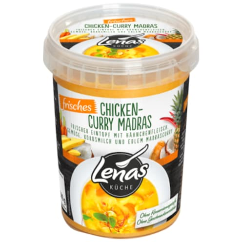 Lenas Küche Frisches Chicken-Curry Madras 500 ml