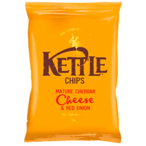 Kettle Chips Mature Cheddar Cheese & Red Onion 150 g