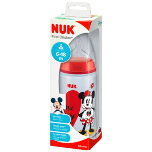 NUK First Choice+ Babyflasche Disney Silicone M 6-18m 300ml