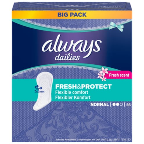 Always Fresh & Protect Normal Fresh Scent 56 Stück