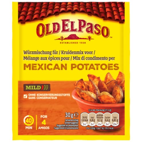 Old El Paso Würzmischung für Mexican Potatoes 30 g