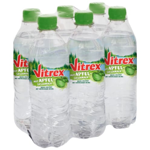 SW Vitrex Flavoured Water Apfel - 6-Pack 6 x 0,5 l