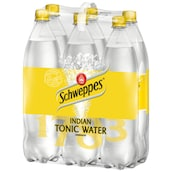 Schweppes Indian Tonic Water - 6-Pack 6 x 1,25 l