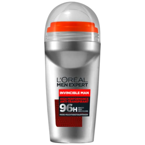 L'ORÉAL MEN EXPERT Invincible Man High Performance Anti-Transpirant 96h Deo Roll-On 50 ml