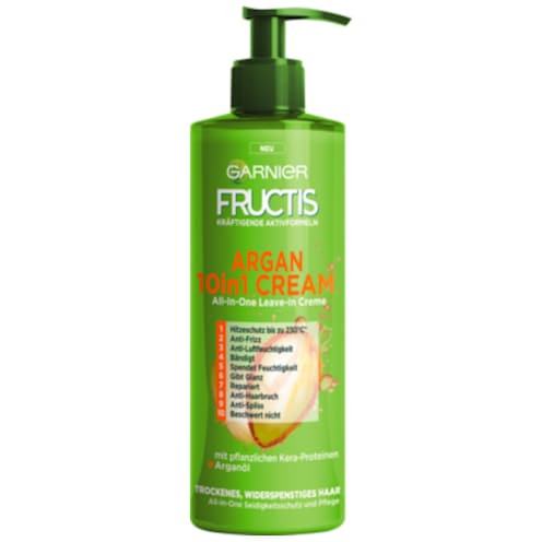 Garnier Fructis Argan 10 in 1 Cream All-in-One Leave-In Creme 400 ml