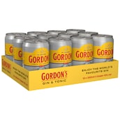 GORDON'S London Dry Gin & Tonic 10 % vol. - Tray 12 x 0,33 l