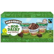BEN & JERRY'S The Non-Dairy cool-lection Chocolate Fudge Brownie 3 x 100 ml