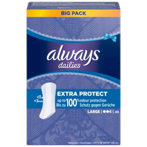Always Extra Protect Large 48 Stück