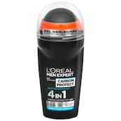 L'ORÉAL MEN EXPERT Deo Roll-on Carbon Protect 4 in 1 Strong Protection 48h Anti-Transpirant 50 ml