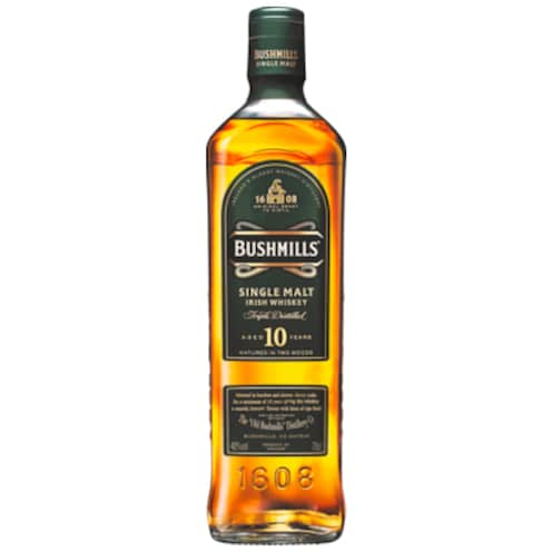 BUSHMILLS Single Malt Irish Whyskey 40 % vol.