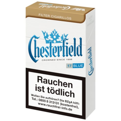 Chesterfield Blue Kingsize Filter Zigarillos 17 Stück