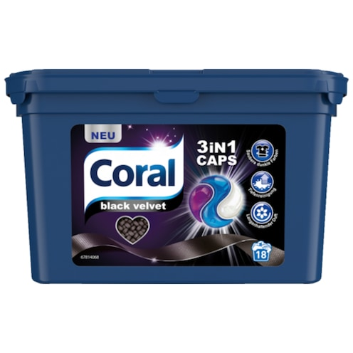 Coral 3in1 Caps Black Velvet 486 g