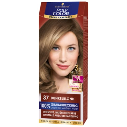 Schwarzkopf Poly Color Creme Haarfarbe 37 dunkelblond Stufe 3 115 ml