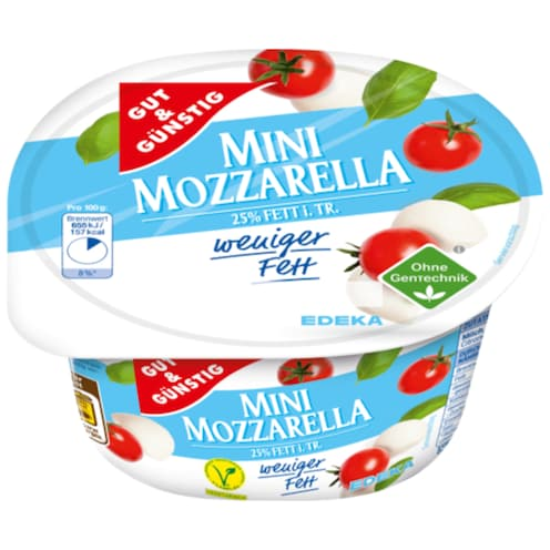 GUT&GÜNSTIG Mini Mozzarella 8,5% Fett absolut 125 g