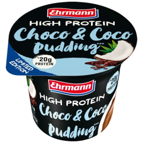 Ehrmann High Protein Choco & Coco Pudding 200 g