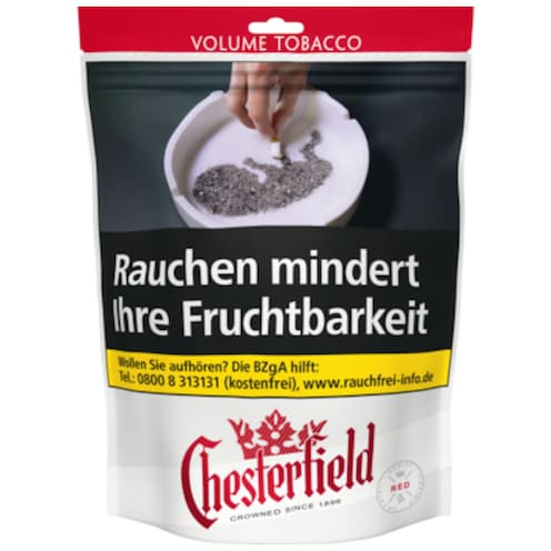 Chesterfield Volume Tobacco Red Zip-Bag 150 g