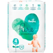 Pampers Pure Protection Maxi Windeln Gr.4 9-14kg Tragepack 19 Stück