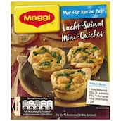 Maggi Fix Lachs Spinat Mini Quiches für 4 Portionen28 g
