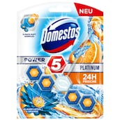 Domestos WC-Stein Power 5 Platinum Blauer Lotus & Orange 55 g