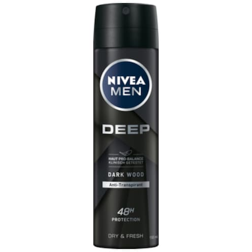 NIVEA Men Deospray Deep Dark Wood 150 ml