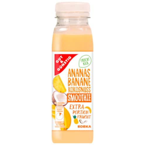 GUT&GÜNSTIG Smoothie Ananas-Banane-Kokusnuss 250 ml