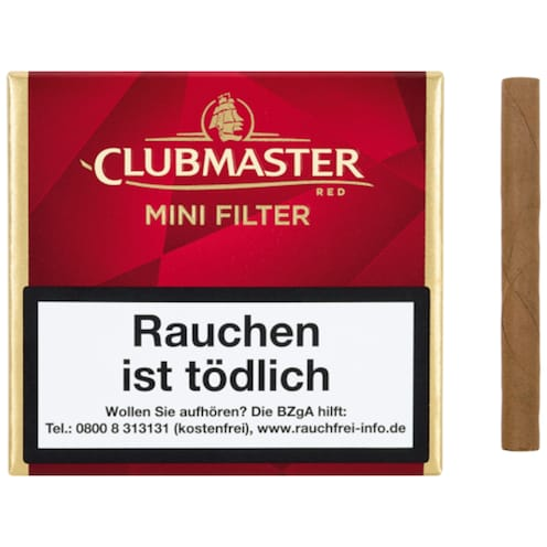 Clubmaster Mini Filter Red 20 Stück