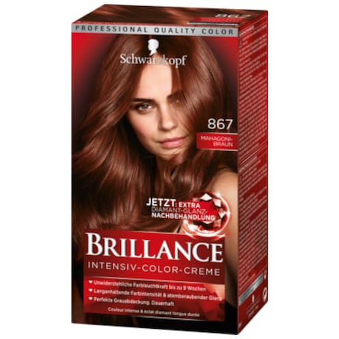 Schwarzkopf Brillance Intensiv Color Creme 867 Mahagoni-Braun 143 ml