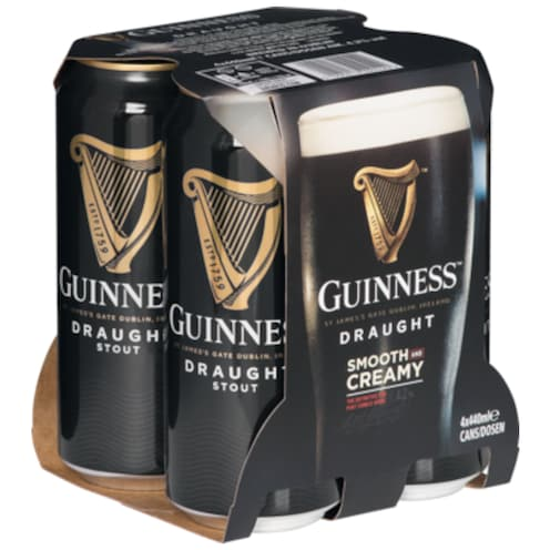 Guinness Draught - 4-Pack 4 x 0,44 l