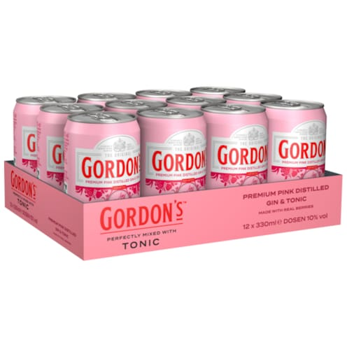 GORDON'S Premium Pink distilled Gin & Tonic