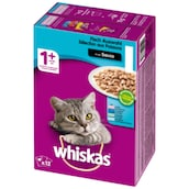 whiskas 1+ Fischauswahl in Sauce 12 x 100 g