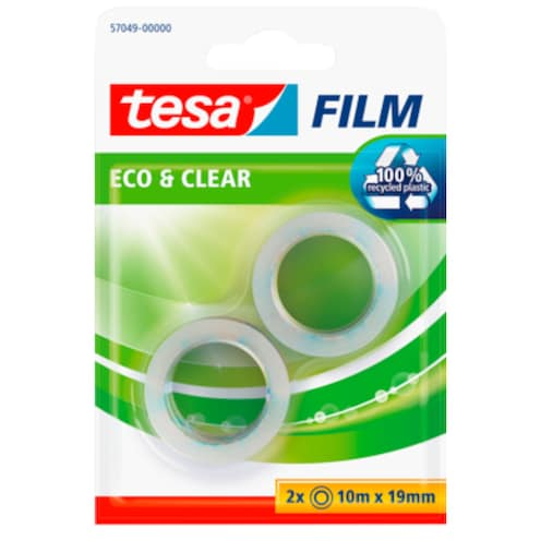 tesa tesafilm® Eco & Clear 2 x 10 m x 19 mm