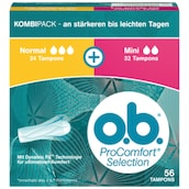 o.b. Tampons Pro Comfort Selection Normal 24 + 32 Stück