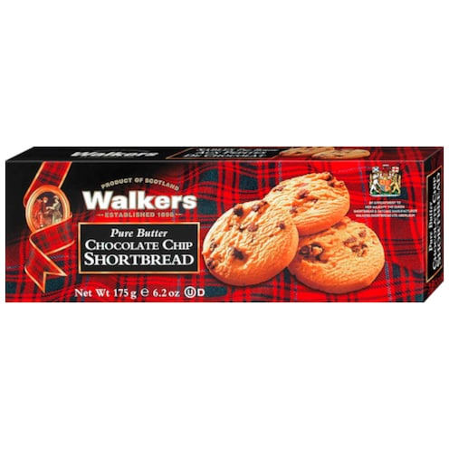 Walkers Pure Butter Chocolate Chip Shortbread 175 g