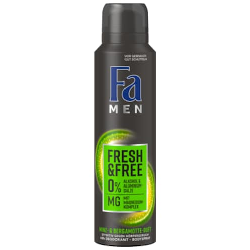 Fa Deospray Men Fresh & Free Minz- & Bergamotte Duft 150 ml