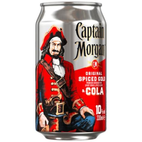 Captain Morgan Original Spiced Gold & Cola 10 % vol. 0,33 l