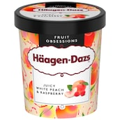 Häagen-Dazs Fruit Obsessions Juicy White Peach & Raspberry Eiscreme 460 ml