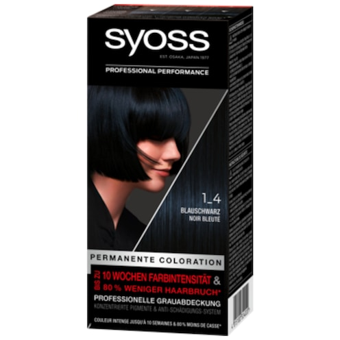 syoss Permanente Coloration 1-4 blauschwarz Stufe 3 115 ml