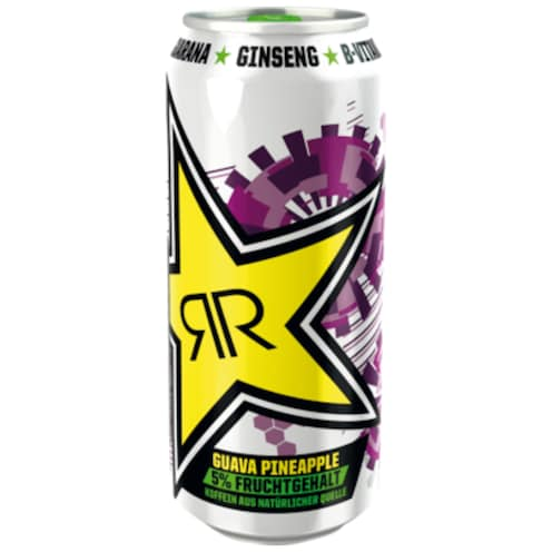 ROCKSTAR First Start Guava-Pineapple Energydrink 0,5 l