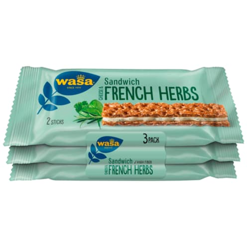 Wasa Sandwich Cheese & French Herbs 90 g