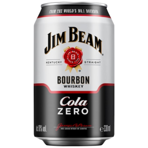 Jim Beam White & Cola Zero 10 % vol. 0,33 l