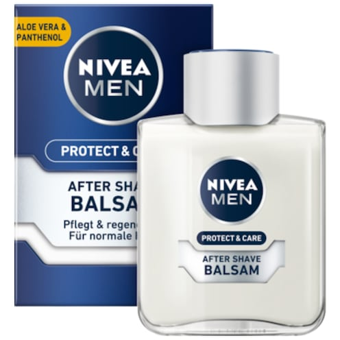 NIVEA MEN Protect & Care After Shave Balsam mit Aloe Vera und Pathnenol 100 ml