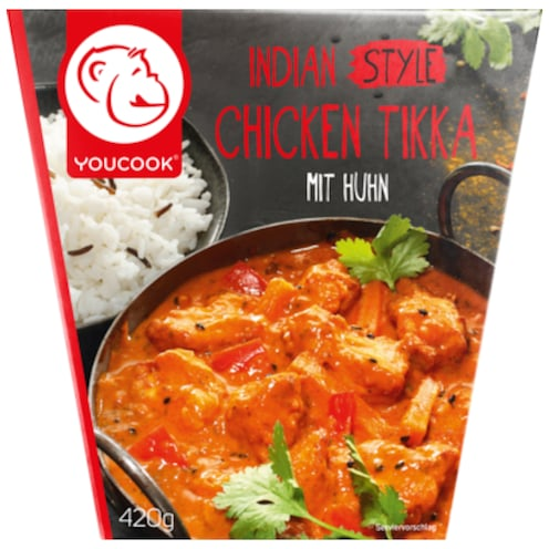 YOUCOOK Indian Style Chicken Tikka mit Huhn 420 g