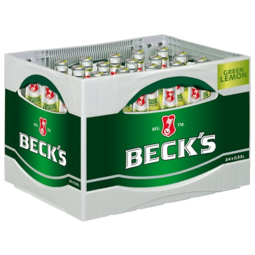Beck's Green Lemon - Kiste 24 x 0,33 l