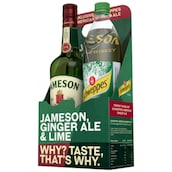 JAMESON Irish Whiskey 40 % vol. + Schweppes Ginger Ale 0,7 l + 1 l