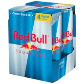 Red Bull Sugarfree - 4-Pack 4 x 0,25 l