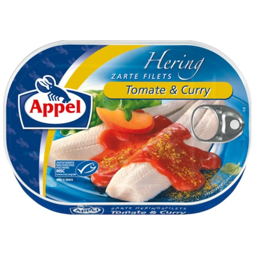 Appel MSC Heringsfilets Tomate & Curry 200 g