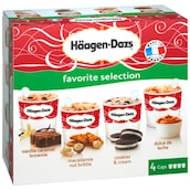 Häagen-Dazs Favorite Selection Esicreme Multipackung 4 x 100 ml