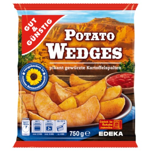GUT&GÜNSTIG Potato-Wedges 750 g