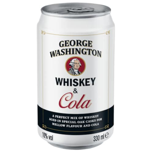George Washington Whiskey Cola 10% vol. 0,33 l