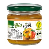 EDEKA Bio + Vegan Streichcreme Mango-Papaya-Curry 180 g
